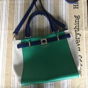 Kate Spade purse  ♠️ white blue & teal